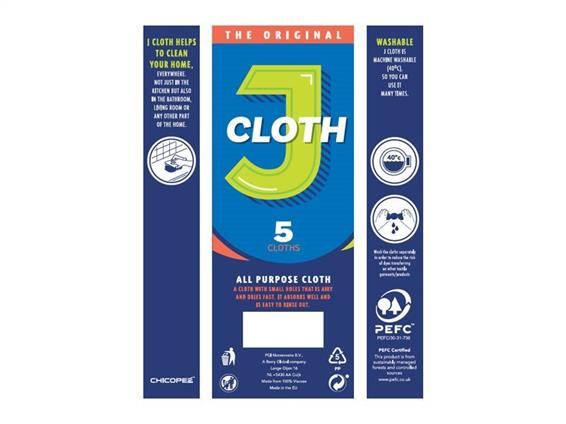 chicopee original j cloth packaging