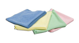 Colour coded microfibre cloths